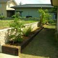 木柱と植栽の取り合わせ画像2