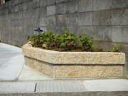 延べ石の花壇