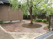 除草対策で2種類のスタンプコンクリート