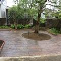 除草対策で2種類のスタンプコンクリート画像2