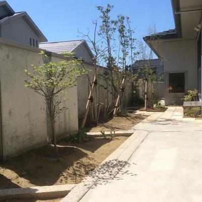 リガーデンで庭が広く見えますね画像1