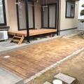 除草対策にスタンプコンクリート画像3