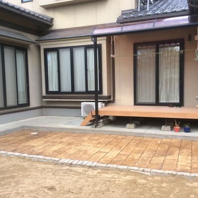 除草対策にスタンプコンクリート画像1